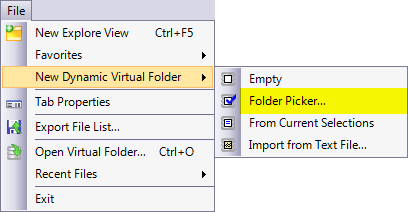 New Dynamic Folder From Folder Picker