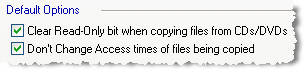 Options for copying files from CD